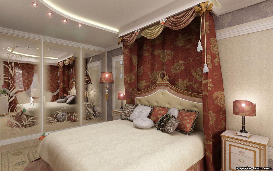 Дизайн спальни в восточном стиле.